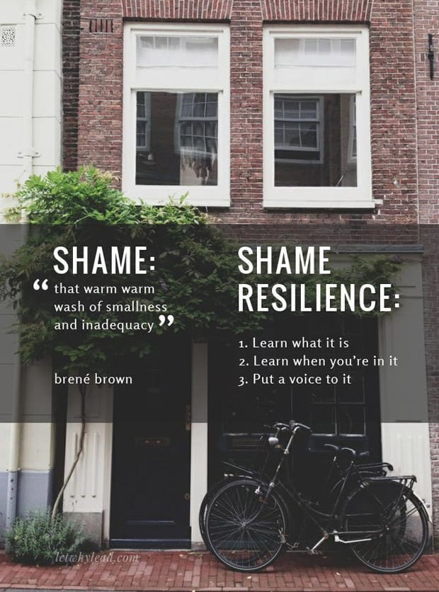 "Shame Resilience: Learning to move through feelings of ""not enough"""