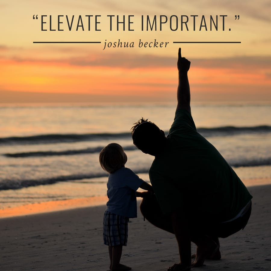 Elevate the Important